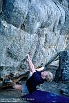 Shaun Harris on 'Pale Rider' 7C+/V10, Campground Boulders, Rocklands