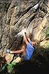 Shaun Harris bouldering at Rocklands