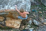 Miles Gibson bouldering at de Doorns